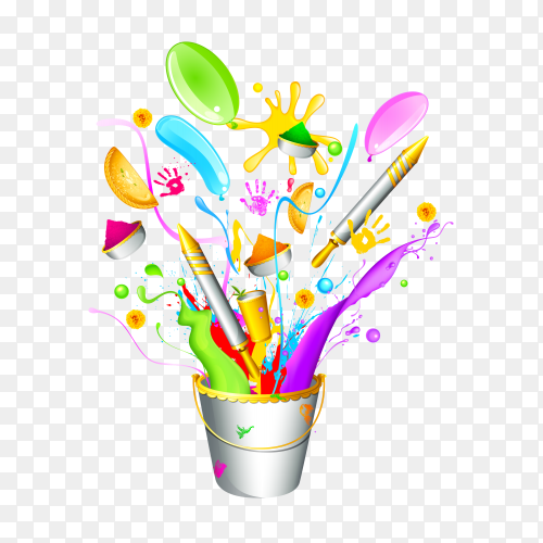 Colorful shapes on transparent PNG