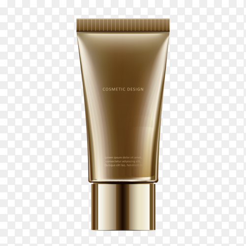 Cosmetic cream face on transparent PNG