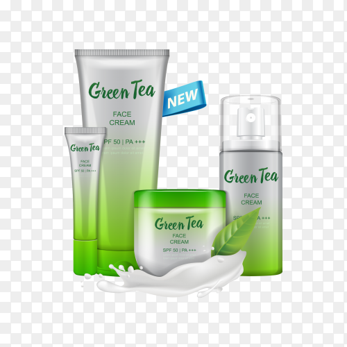 Cosmetic skin cream on transparent PNG