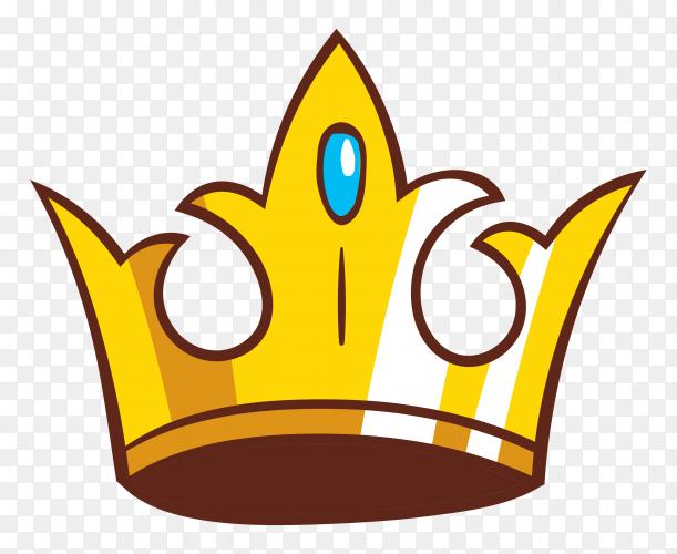 Crown cartoon design Premium vector PNG