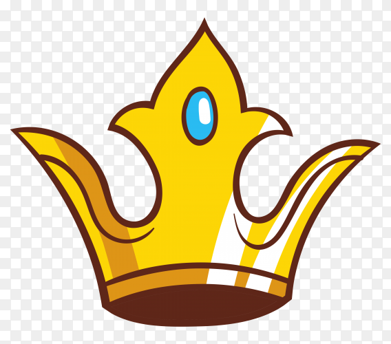 Crown icon cartoon on transparen background PNG