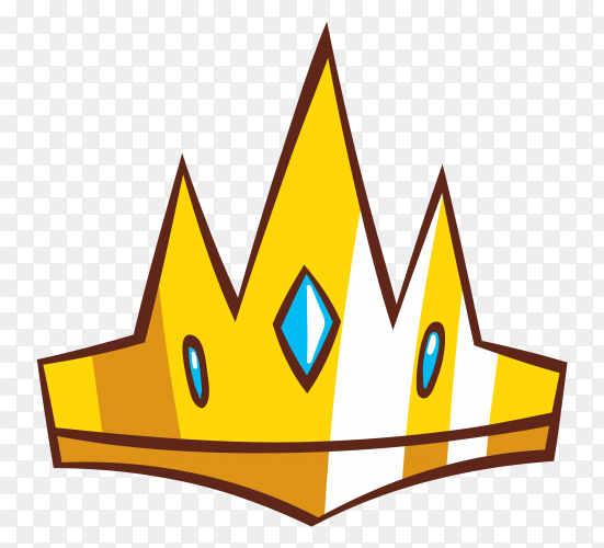 Crown icon design vector PNG
