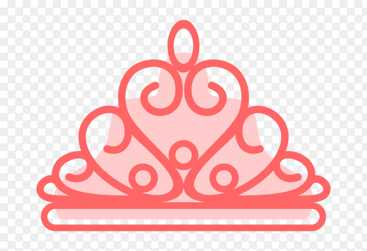 Crown icon illustration on transparent background PNG