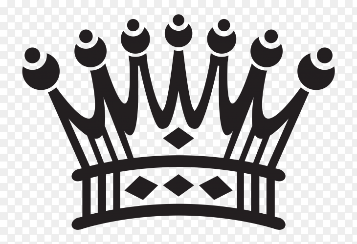 Crown icon on transparent PNG