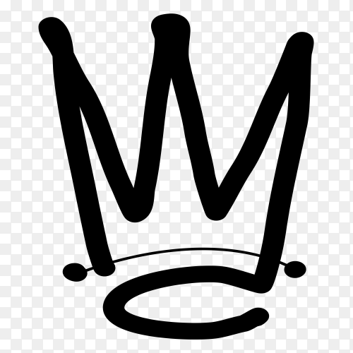 Crown logo design icon clipart PNG