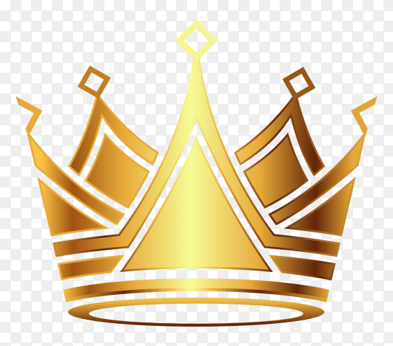 Crown modern gold on transparent background PNG