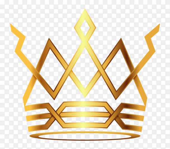 Crown modern gold vector PNG