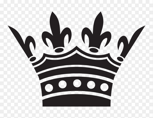 Crown on transparent background PNG