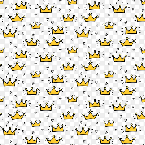 Crown pattern background clipart PNG