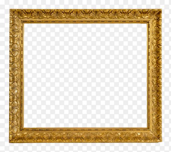 Decorative frame and border on transparent background PNG