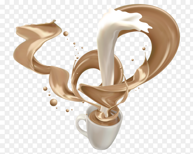 Delicious Milk tea drink Clipart PNG