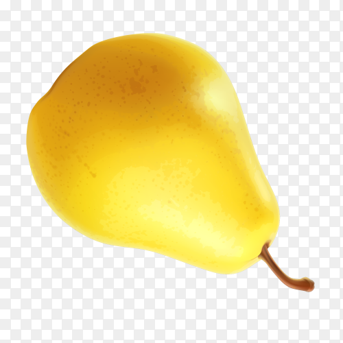 Delicious pear on transparent background PNG