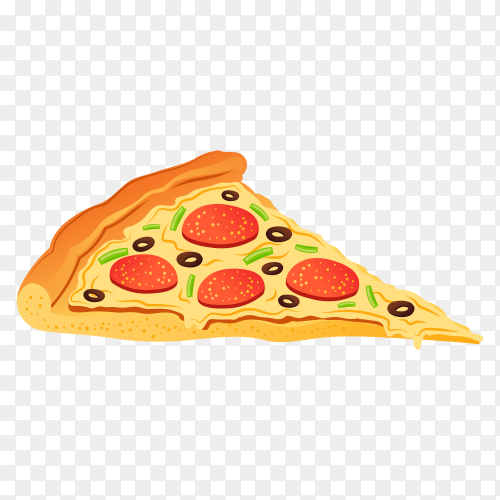 Delicious pizza on transparent background PNG