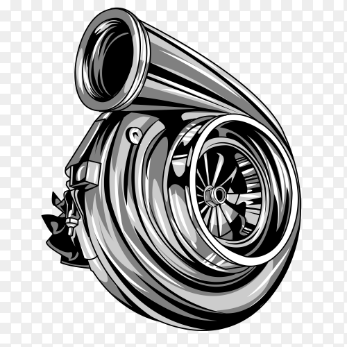 Diesel turbo on transparent background PNG