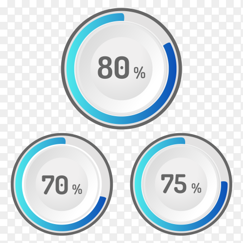Different values Percentage on transparent background PNG