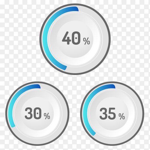 Different values Percentages Clipart PNG