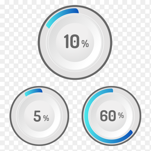 Different values Percentages Premium vector PNG