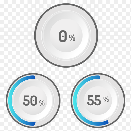 Different values Percentages vector PNG