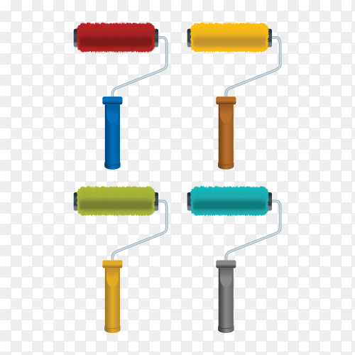 Diffrent colors bruch on transparent PNG
