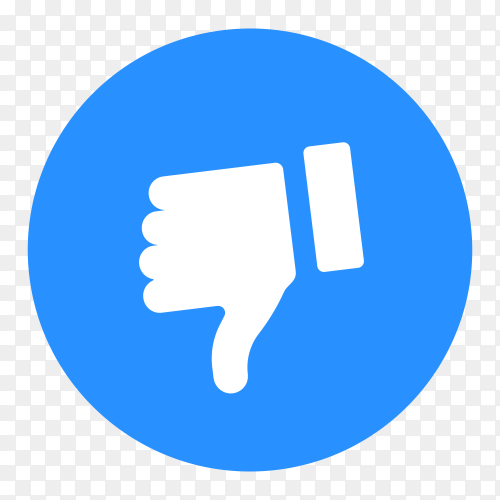 Dislike icon on transparent PNG