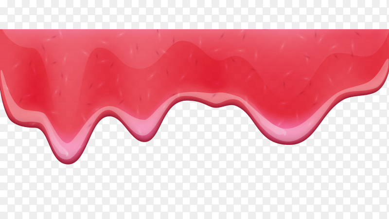 Drip Red ice cream melt drops Clipart PNG