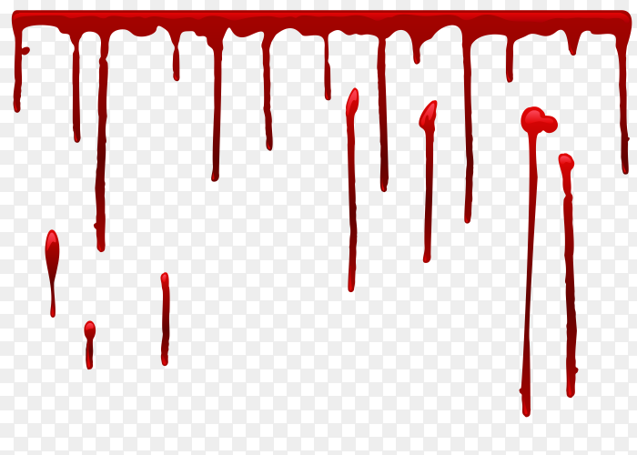 Dripping blood clipart PNG
