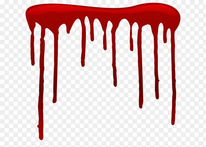 Dripping blood on transparent background PNG