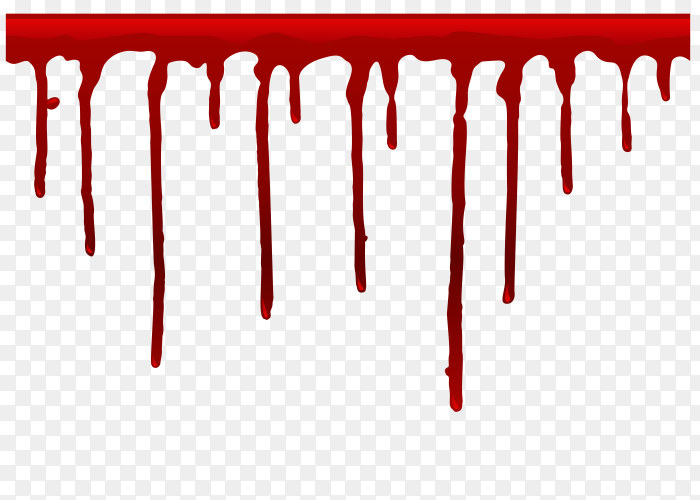 Dripping blood template Premium Vector PNG