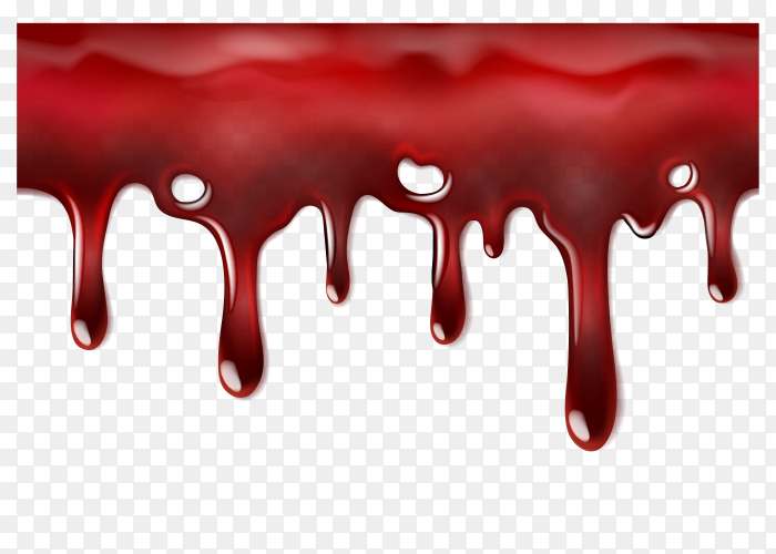 Dripping blood template vector PNG