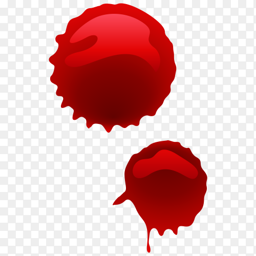 Drop of blood on transparent PNG