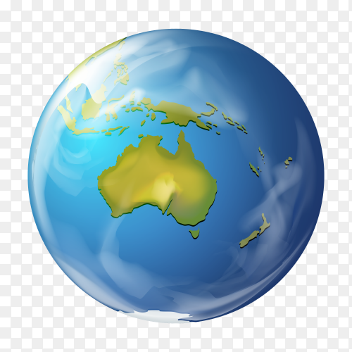 Earth globe on transparent background png
