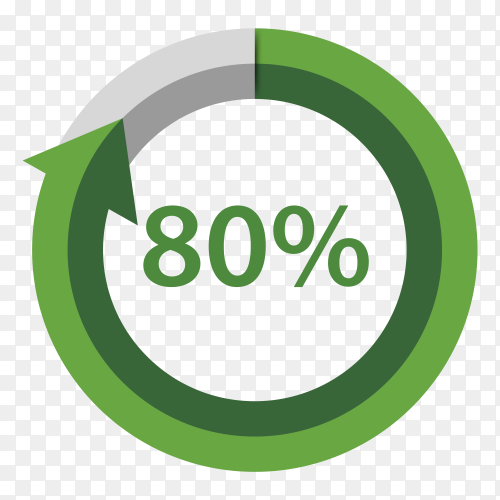 Eighty Percentage Upgrade on transparent background PNG