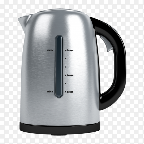 Electric and kettle for gas cooker on transparent background PNG