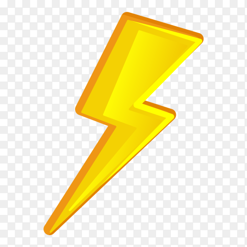 Electric logo icon on transparent background PNG