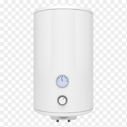 Electric water heater on transparent background PNG