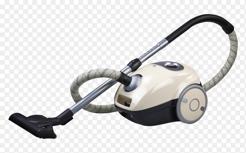 Electrical vacuum cleaner on transparent background PNG