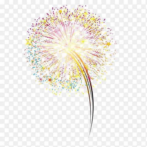 Elegant fireworks on transparent background PNG