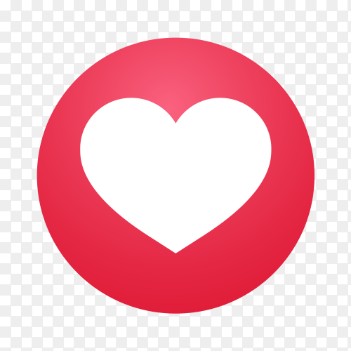 Emoji social media Reaction heart icon vector PNG