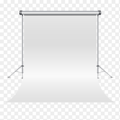 Empty 3d photography studio on transparent PNG