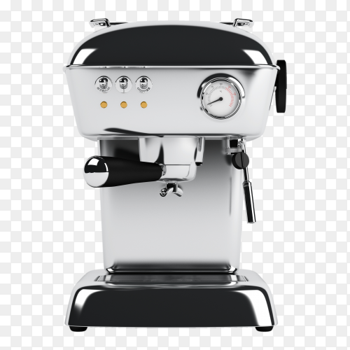 Espresso coffee machine on transparent background PNG