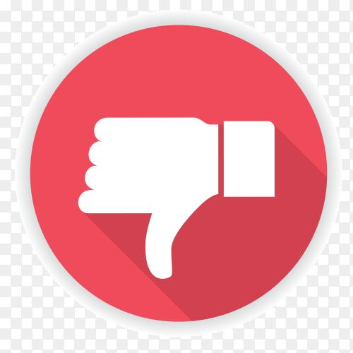 Facebook dislike icon premium vector PNG