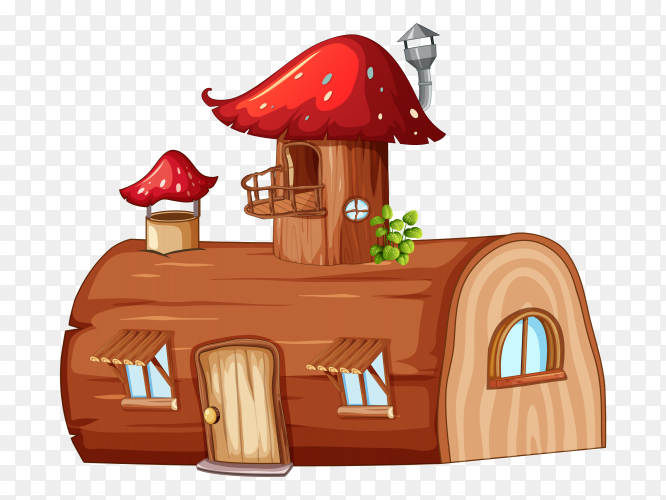 Fantasy house on transparent background PNG
