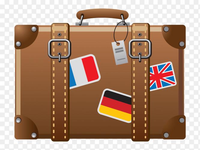 Fashion travel bag on transparent background PNG