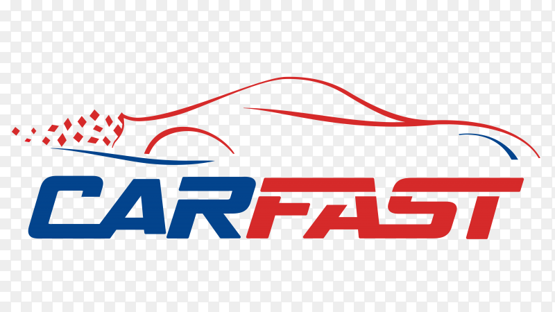 Fast car lines logo on transparent background PNG