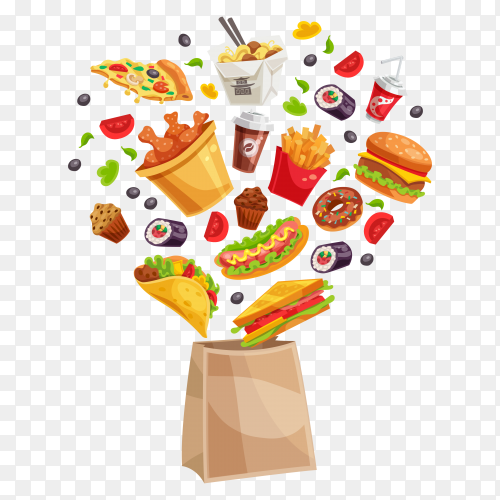 Fast food design Premium vector PNG