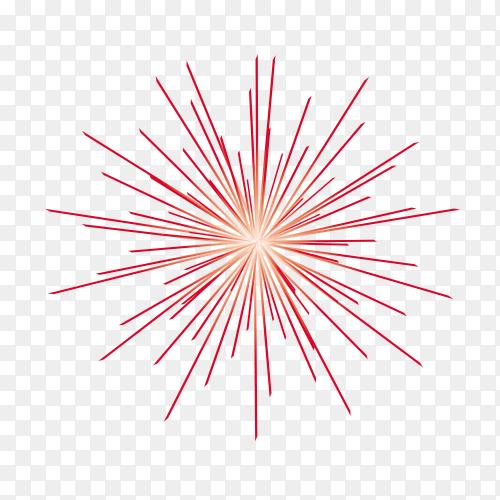 Festive fireworks on transparent background PNG