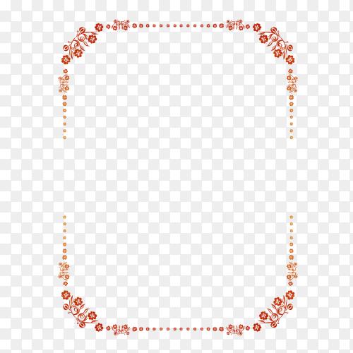 Flower Frame on transparent background PNG