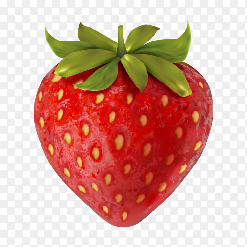 Fresh Strawberry  Clipart PNG