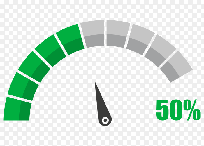 Fuel indicator with fifty hundred percentage vector PNG