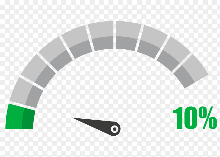 Fuel indicator with ten hundred percentage vector PNG